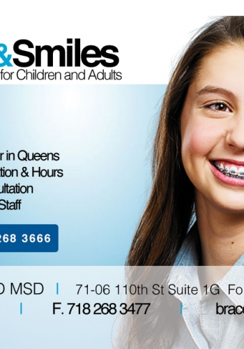 Portfolio portraits braces and smiles invisalign orthodontist braces and smiles business card portfolio portraits external referral card 350x500 queens ny orthodontist for reheart Images